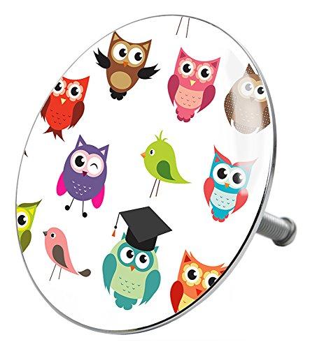 Badewannenstöpsel Owl, deckt den kompletten Abflussbereich ab, hochwertige Qualität ✶✶✶✶✶