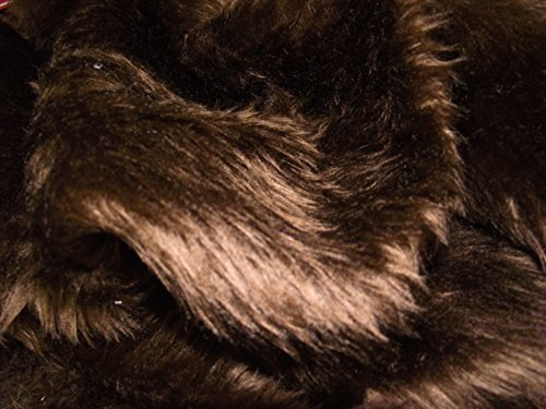 CRS Fur Fabrics , mit Kunstfell, Stoff, Braun, Packung