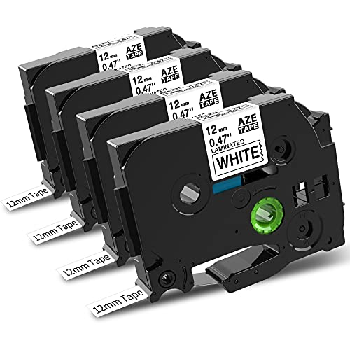 Markurlife Kompatibel Schriftband als Ersatz für Brother TZe-231 TZe231 TZ231 Schriftband 12mm 0,47 Beschriftungsband für Brother P-Touch 1010 1000 D400 P900 PT-H105 H100lb H101C, Schwarz auf Weiß