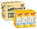 Glad Small Trash Bags - OdorShield 4 Gallon White Trash Bag, Gain Fresh Scent with Febreze - 26 Count - Pack of 6 (Package May Vary) (78812)