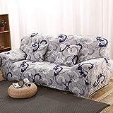 WXQY Fundas con Estampado Floral Funda de sofá elástica elástica Funda de sofá con protección para Mascotas Funda de sofá con Todo Incluido en Forma de L A30 1 Plaza