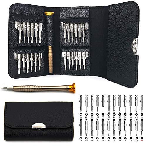 Kit de Herramienta Electricista Profesional Precisión Juego Destornilladores de Herramientas 25 en 1, Destornillador Precision Atornillador para iphone MacBook PC Gafas