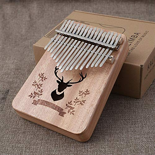 Kalimba, Daumenklavier 17 Keys Kalimba Daumenklavier Praktische Holz Mahagoni Mbira Körper Keyboard Musikinstrumente mit Lernbuch Kalimba Klavier (Color : Walnut Color)