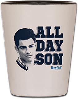 CafePress New Girl All Day Son Shot Glass, Unique and Funny Shot Glass