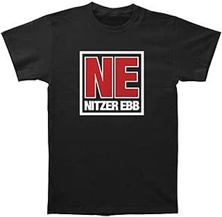 Nitzer Ebb Men's NE Logo Slim Fit T-Shirt Black