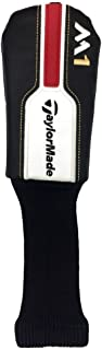NEW TaylorMade M1 Black/White/Red Leather Hybrid/Rescue Headcover