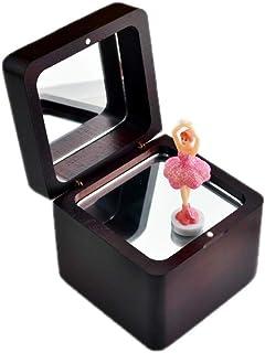 Music Box Classic Ballerina Music Box, Mini Music Box (Walnut Color) Musical Boxes & Figurines