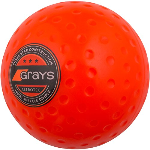 GRAYS Astrotec, Bola Hockey Hierba Nivel Medio, Naranja, l