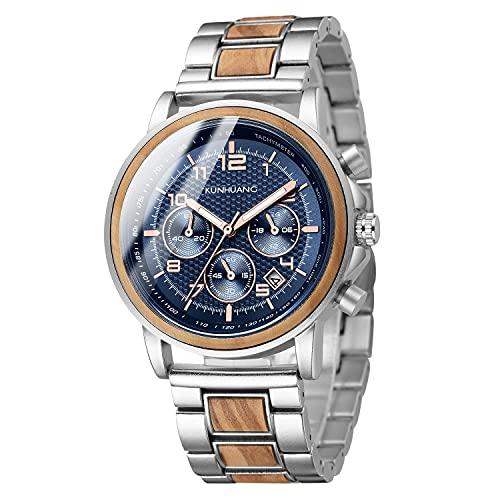 Relojes for hombres nuevos, madera de aleación, relojes impermeables de moda, relojes de regalo vendidos en caliente, salud natural, elementos de protección ambiental, regalos vacaciones, movimiento
