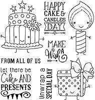 漫画のケーキとキャンドル透明なクリアシリコンスタンプ/DIYスクラップブッキング用シール/フォトアルバム装飾的なクリアスタンプW1185