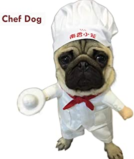 D-ModernPet Dog Costume - Funny Star Chef Costume for Pets Chef Dog Cosplay Suit Dog Cat Apparel Halloween Christmas New Year Outfit Clothes for Dogs