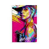 LOPIU Lady Gaga Pop Art Modern Abstrakt Pop Art Kunstdruck