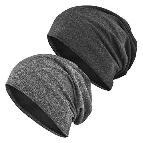 EINSKEY Mützen Herren Damen Cap Dünn Slouch Beanie Kopfbedeckung für Sport, Chemotherapie, Haarausfall, Schlaf