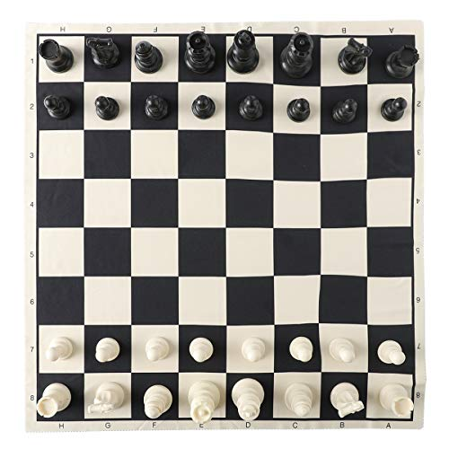 """HOLYKING 19"""" Tournament Cloth Chess Board Set - Portable Travel Chess Game Set Roll Up Combination- Beginner Chess Set for Kids and Adults"""