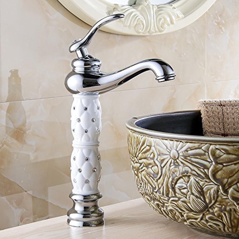 YHSGY Waschtischarmaturen Waschtischarmaturen Euro Gold Waschtischarmatur Luxus Hoch Bad Waschtischarmaturen Einhand Waschtisch Einlochmischer Wasserhhne