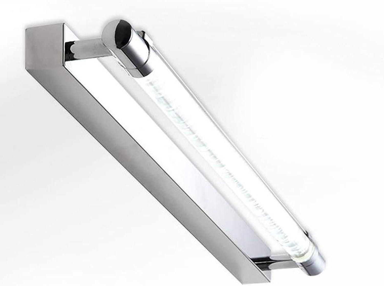 Spiegel Lampen LED-Spiegel Leuchten, einfache Edelstahl Bad Spiegelleuchte Bad Wandleuchte Badezimmer leuchten (Farbe  Wei-52 cm)