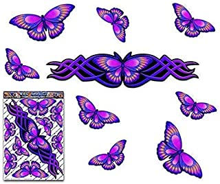 JAS Stickers® Purple BUTTERFLY ANIMAL Car Decal - Graphic Large Vinyl Sticker Pack For Laptop Bicycle Caravans Trucks & Bo...