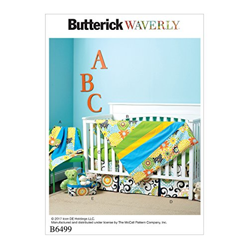 Butterick Patterns 6499 OS Nursery Essentials Schnittmuster, Mehrfarbig
