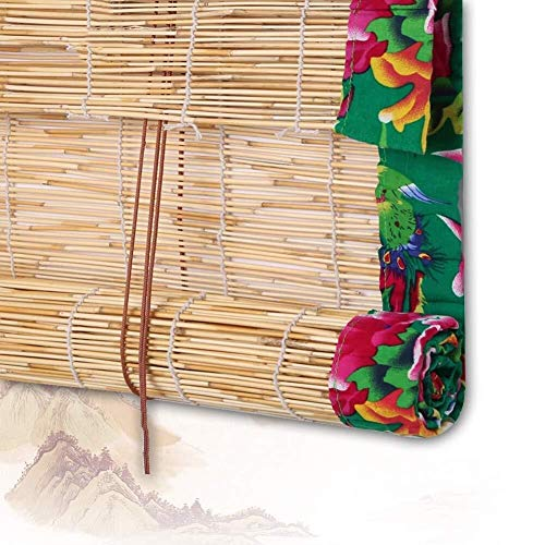 Bamboe Rolgordijnen Bamboe Vouwgordijnen Jaloezieën Houten Jaloezieën - Groen Kant Riet Ramen Om Kast Gordijn Balkon Veranda Aanpasbaar (Kleur: A, Grootte: 90x220CM) (Color : A, Size : 120x220cm)
