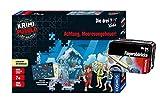 Kosmos Die DREI ??? Kids - Set: Achtung, Meeresungeheuer! (Krimi Puzzle) + Forscherkästchen (Verschiedene Auswahl), Detektiv-Set