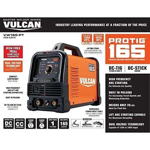 Vulcan ProTIG 165 Welder with 120/240 Volt Input (VW165-PT)