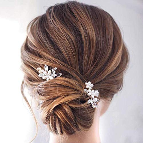 Haarschmuck Set für Damen Haarklammern aus hochwertigem Metall - Wunderschöne Frisuren für die Hochzeit oder einfach nur zum Ausgehen machen Haarspangen Haare (16 Stück)