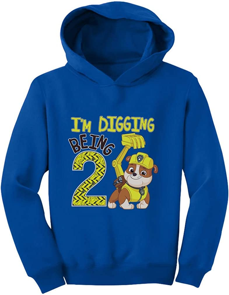 Paw Patrol Rubble Digging 2nd Birthday Official Nickelodeon Toddler Hoodie