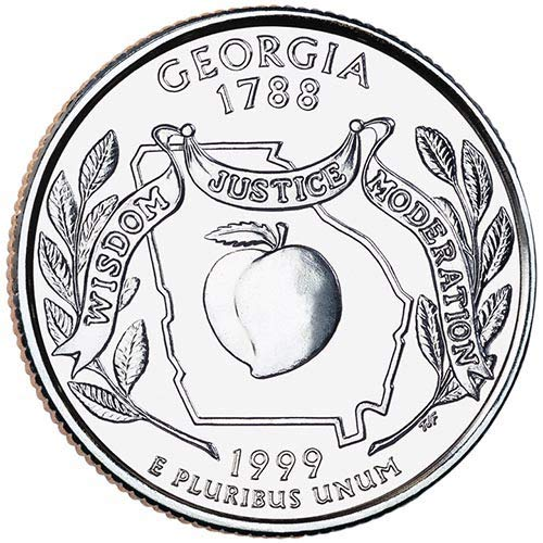 1999 S Clad Proof Georgia State Quarter Choice Uncirculated US...