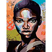 YTHSFQ 数字の絵の具 インドの女の子 DIYペイント番号キット 子供 大人 DIY キャンバスペインティング 数字 アクリル絵画 アートクラフト ホームウォールデコレーション ペイント 番号16x20インチ