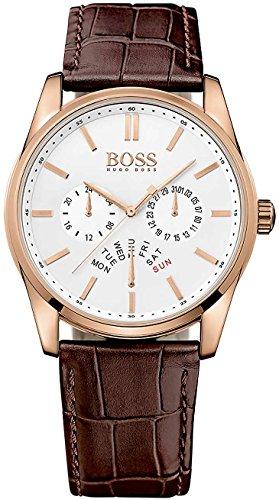 Hugo Boss Reloj Analógico para Hombre de Cuarzo con Correa en Cuero 1513125