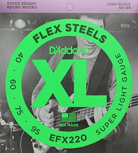D'Addario EFX220 Flex Steels Bass Long Scale 4-String 40-95 Saitensatz