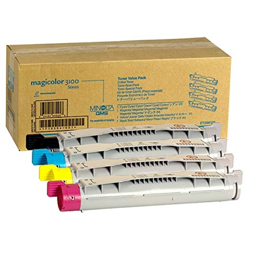 Konica Minolta Magicolor 3100 (9960A1710504001) - original - Toner MultiPack (schwarz, cyan, magenta, gelb) - 6.000 Seiten