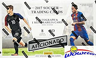 2017 Panini Aficionado Soccer Factory Sealed HOBBY Box with AUTOGRAPH,MEMORABILIA, 5 Inserts & 10 Parallels! Look for Autographs of Ronaldo, Pele, Neymar, Christian Pulisic, Maradona & More! WOWZZER!