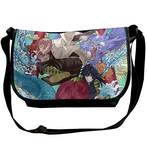 Anime Demon Slayer Kimetsu no Yaiba Bolsa de hombro Mochila ligera Anti Robo Daypacks Trabajo Compras Escuela Pesca Uso Diario Unisex