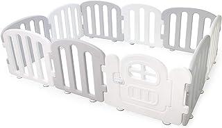 Ifam Play Yard with Door Set, Grey/white, 207x147cm