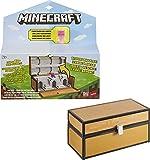 Minecraft Cofre maletín para almacenar figuras de juguete, incluye muñeco de Enderman teletransporte (Mattel GTP32)