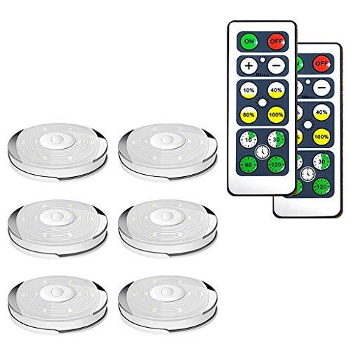 Onderbouwverlichting, dimbare led-batterij, pucklights met afstandsbediening, touch-sensor onder de kastverlichting voor keuken en kast