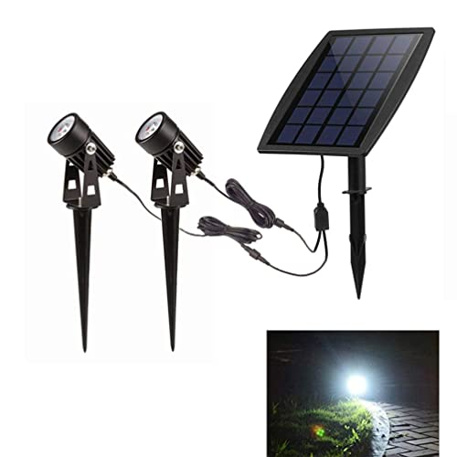 LED Landscape Solar Spot lights Waterproof Outdoor Solar Spotlight for Backyard Driveway Patio Gardens Lawn,