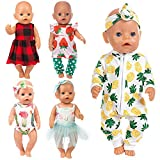 Ecore Fun 10 Item 14-16 Inch Baby Doll Clothes Dresses Outfits Pjs for 43cm New Born Baby...