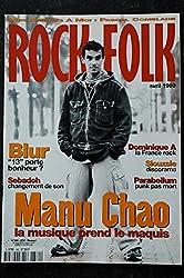 ROCK & FOLK 380 MANU CHAO BLUR Sebadoh Dominique A Siouxsie PARABELLUM