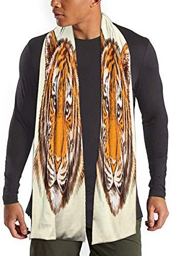 Sjaal Tijger Leuke Hoofd Lichtgewicht Zachte Mannen Sjaals Lange Warm Sjaal Sjaals Katoen Vrouwen Deken Sjaal Voor Lente Herfst Winter Outdoor Activiteiten