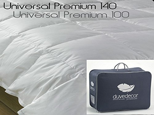Duvedecor - Edredón nórd Universal Premium 140, Talla 150, Color Blanco