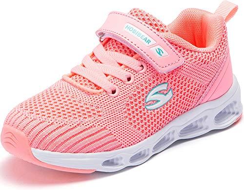 GUFANSI Fitnessschuhe 29 Mädchen Hallenschuhe Laufschuhe Sportschuhe Leicht Turnschuhe Freizeitschuhe Mädchen Joggingschuhe Walkingschuhe Pink Rosa Kinderschuhe für Unisex Outdoor