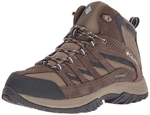 Columbia Women's Crestwood Mid Waterproof Hiking Boot,pebble, oxygen,9 Regular US