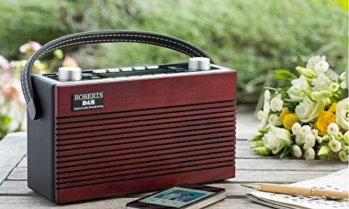 Roberts Radio DAB+/FM Radio mit Bluetooth, Revival Classic Blutune E Nussbaum