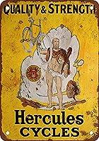 Hercules bicicletas 金属板ブリキ看板警告サイン注意サイン表示パネル情報サイン金属安全サイン