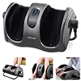 TISSCARE Shiatsu Foot Massager Machine with Deep-kneading Heat Rolling Air Compression Multi-Level Settings for Foot Relax