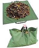 Bolsa de basura de jardín - Bolsa de basura de jardinería reutilizable de alta resistencia - Sacos de jardín de limpieza Tela de lona militar  (L55.1 in,W45.6 in)