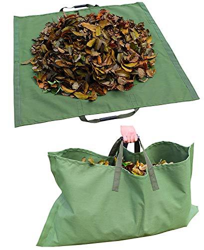 WHT Gartensack   gartenabfallsack Laubsack aus robustem Leinengewebe   schwerlast Gartensack   zusammenfaltbar   vielseitig einsetzbar   Gartentasche Rasensack (1x 150Liter)