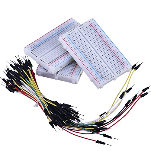 eBoot 3 Pieces 400-Point Solderless Circuit Breadboard with 65 Pieces